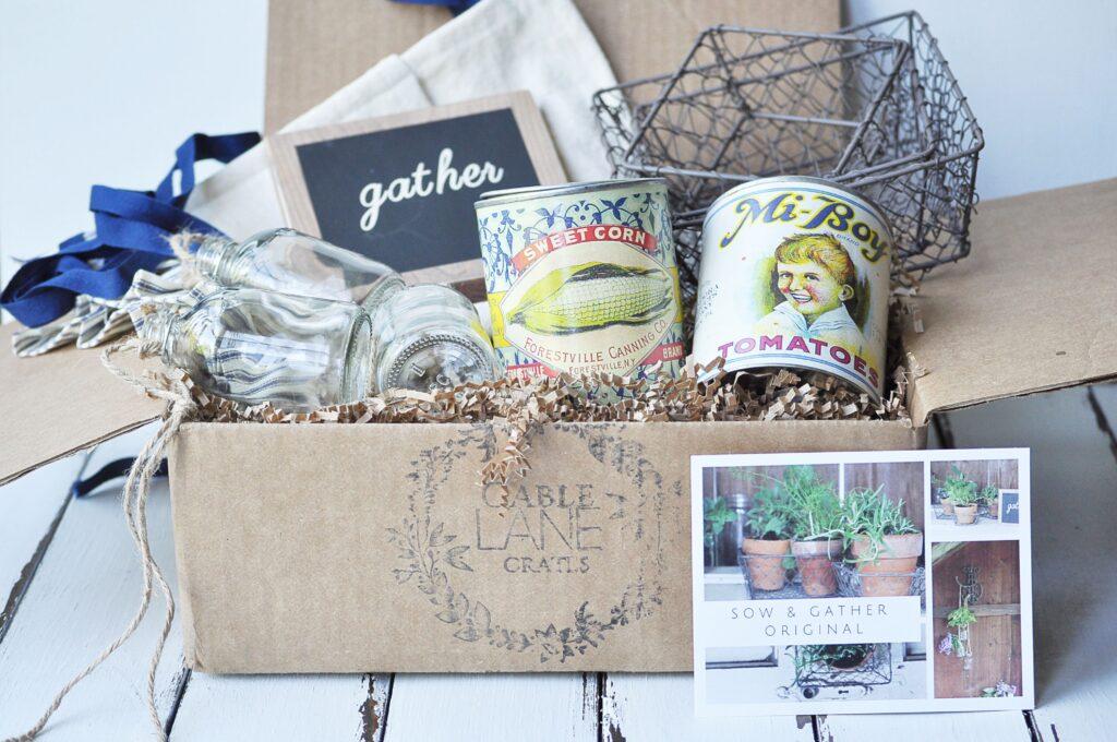 Gable Lane Crate - Sow & Gather via Littles Glass Jar