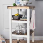DIY Guest Bedroom Beverage Station