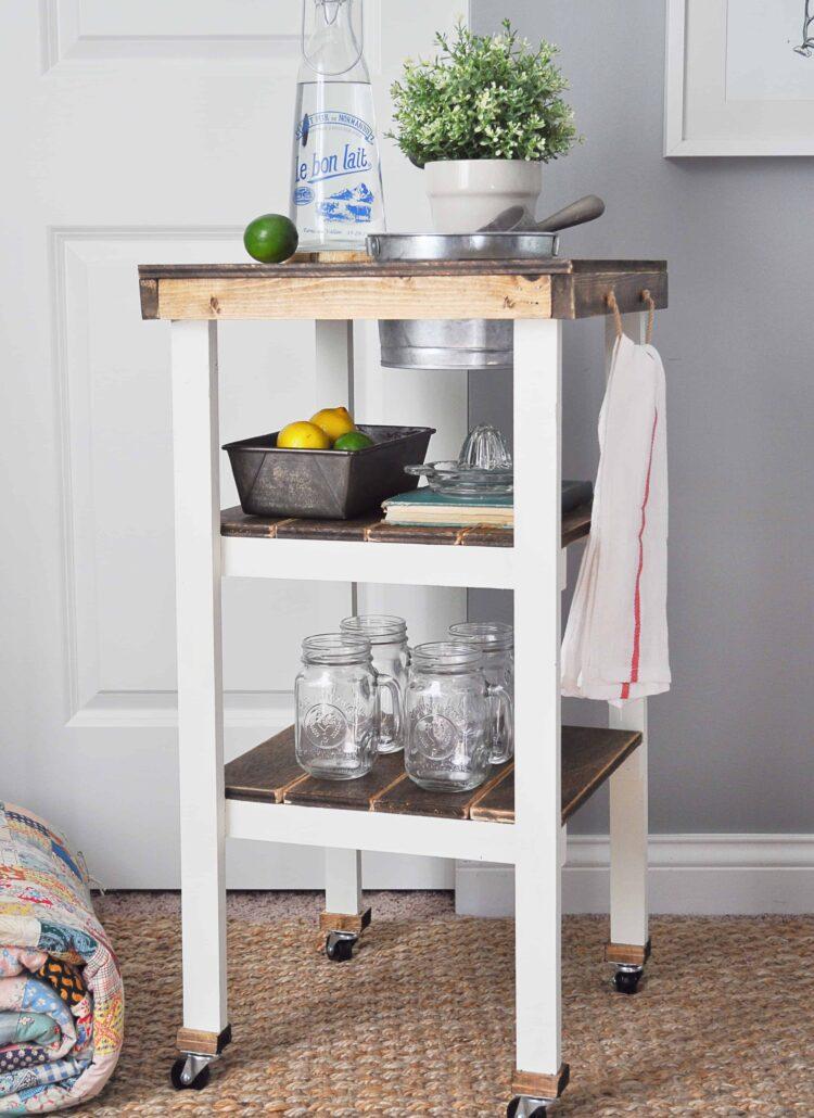 DIY Guest Bedroom Beverage Station