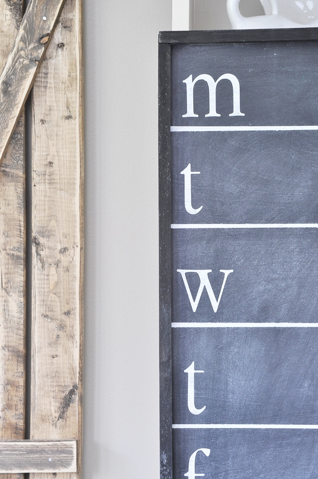 DIY Chalkboard Menu