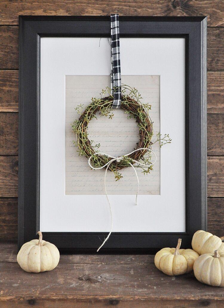 Fall Farmhouse Mini Wreath