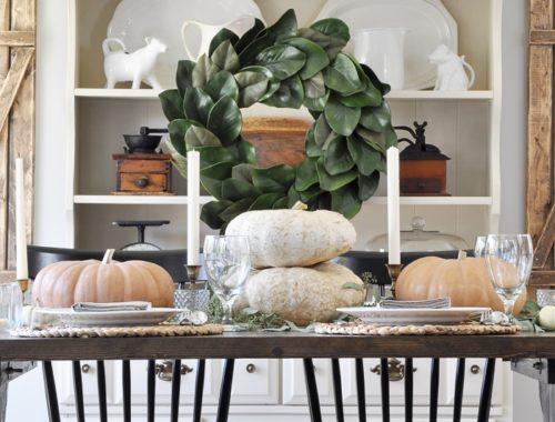 Farmhouse Fall Tablescape