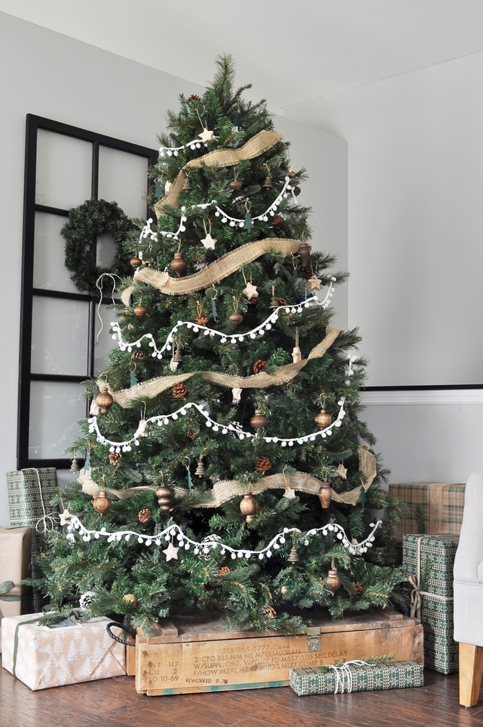 Neutral Rustic Christmas Tree