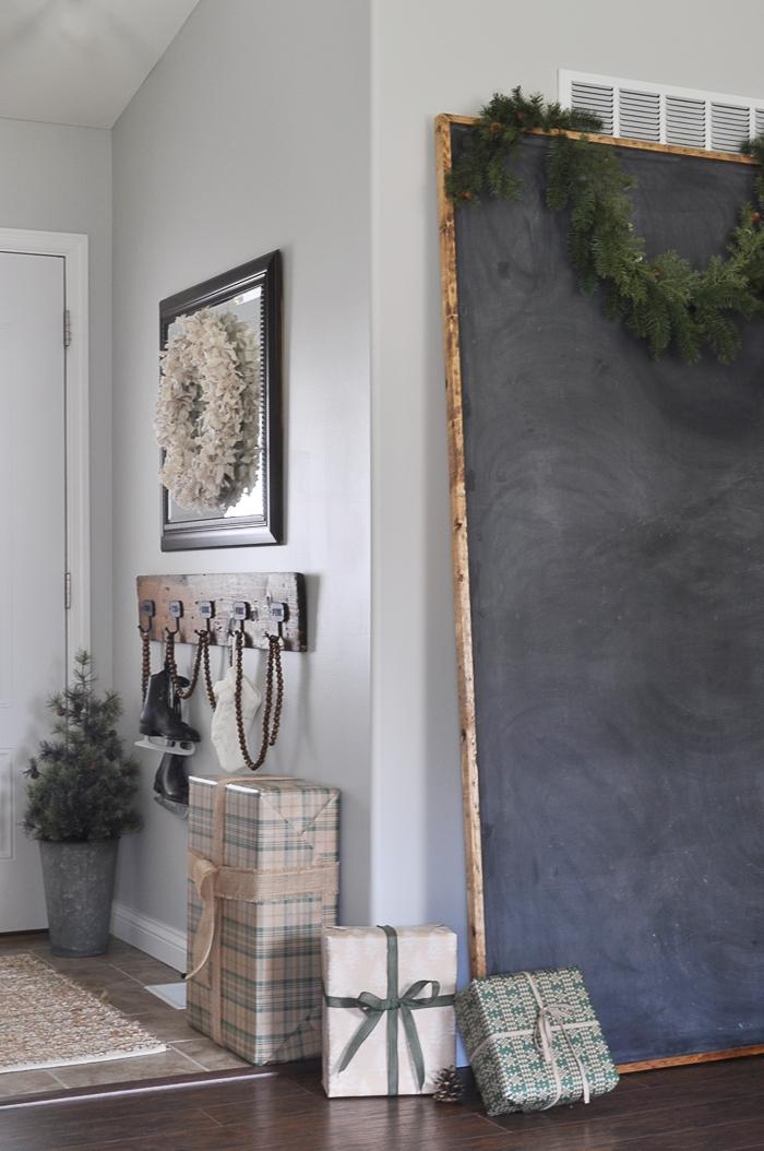 Rustic Christmas Entryway