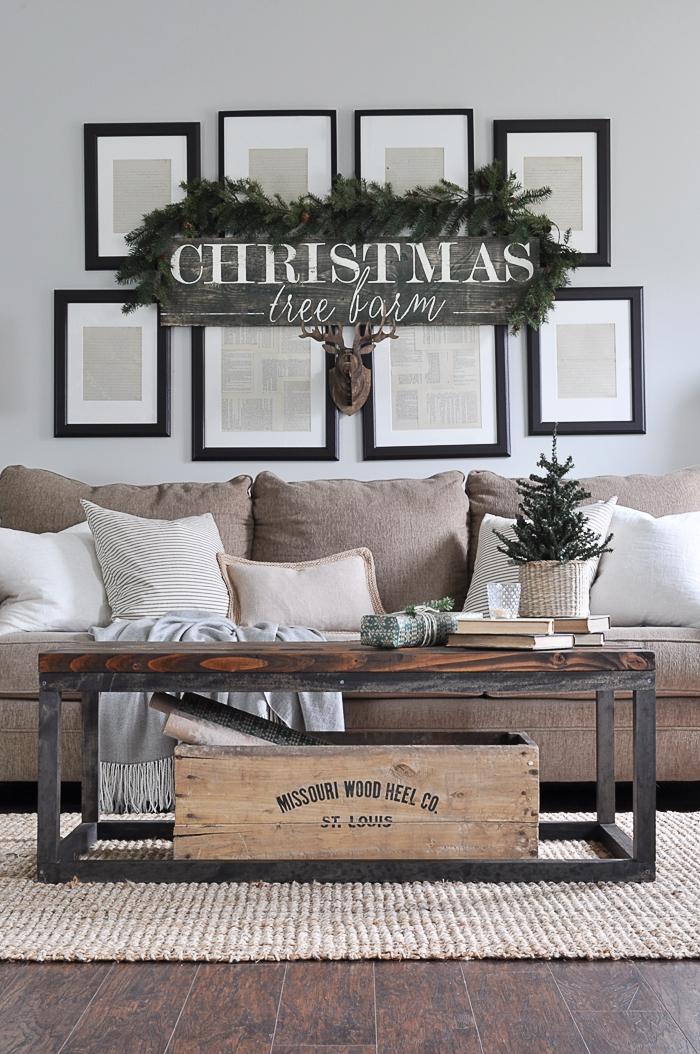 Rustic Christmas Living Room