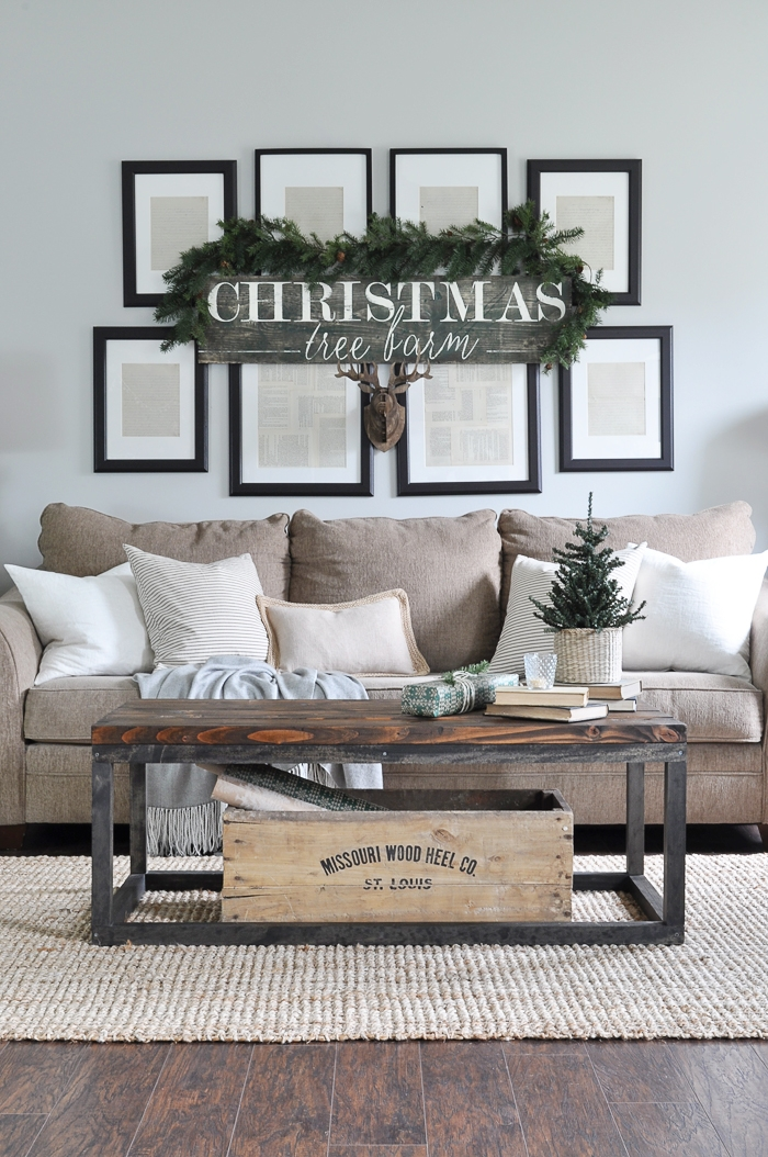 Rustic Christmas Living Room