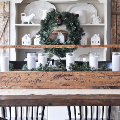 Simple Christmas Dining Room