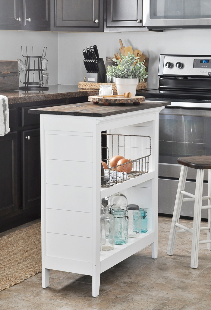 diy bookcase kitchen island. Contemporary Diy DIY Bookshelf Kitchen Island Via Little Glass Jar Intended Diy Bookcase