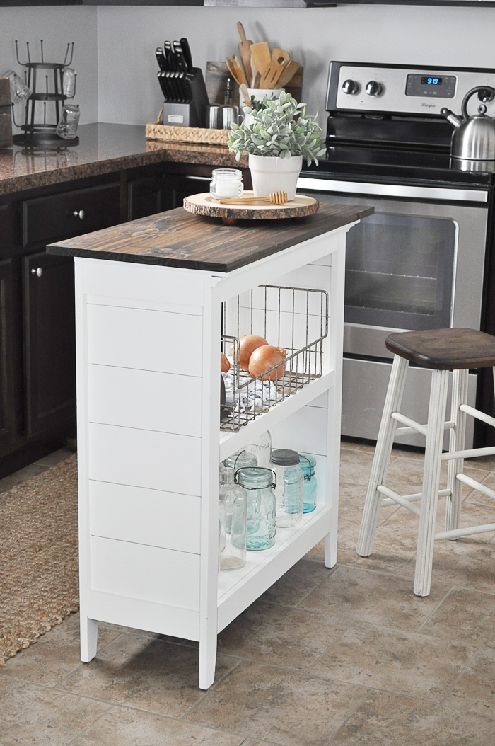DIY Bookshelf Kitchen Island via Little Glass Jar