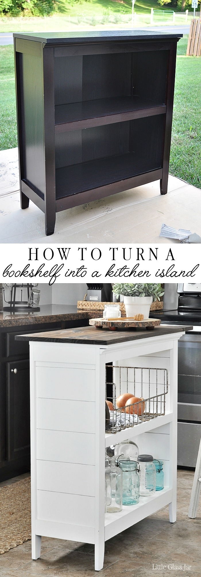 bookshelf kitchen island little glass jar diy bookshelf kitchen island