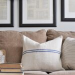 No-Sew Grain Sack Pillows
