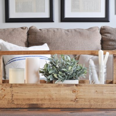 Rustic Wooden Tote