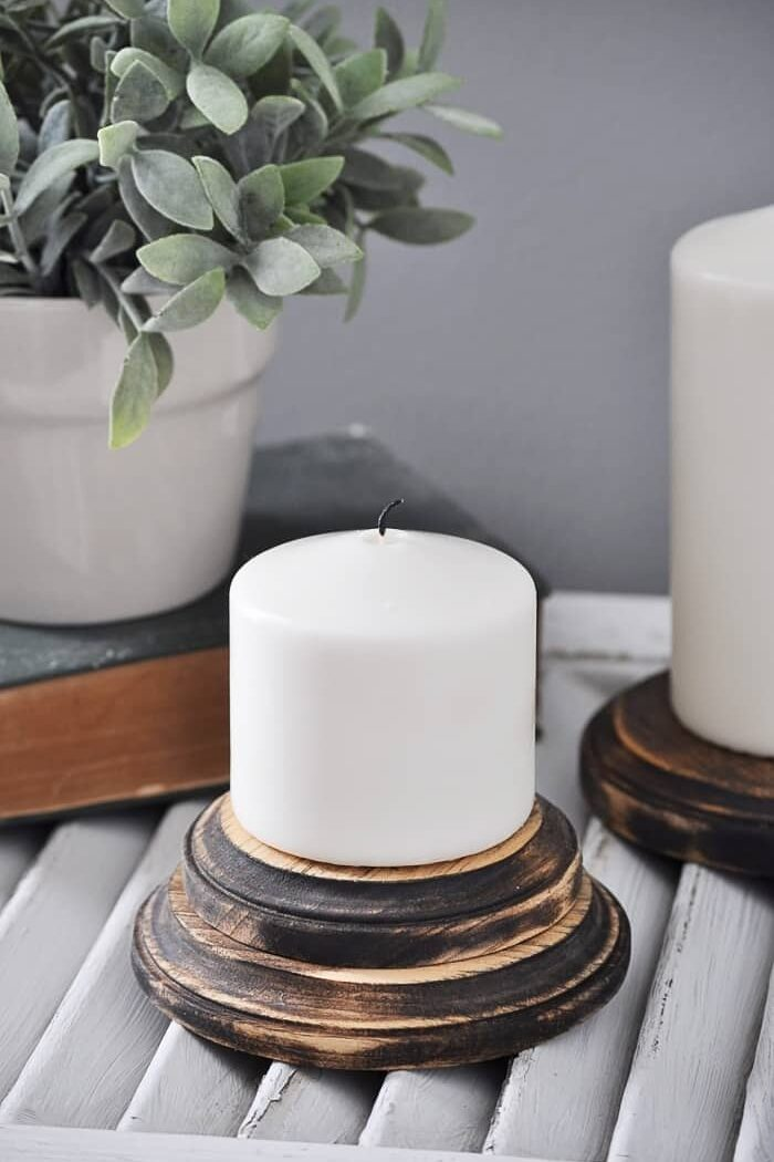 Farmhouse Candle Pedestals