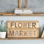 DIY Flower Market Sign via Little Glass Jar