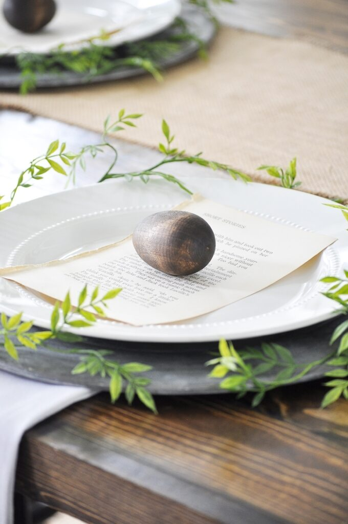Natural Easter Tablescape via Little Glass Jar