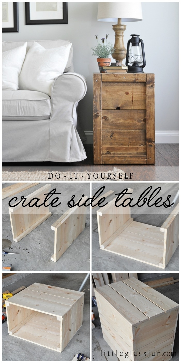 Perfect Make These Rustic, Farmhouse Style DIY Crate Side Tables For Your Living  Room Or Bedroom