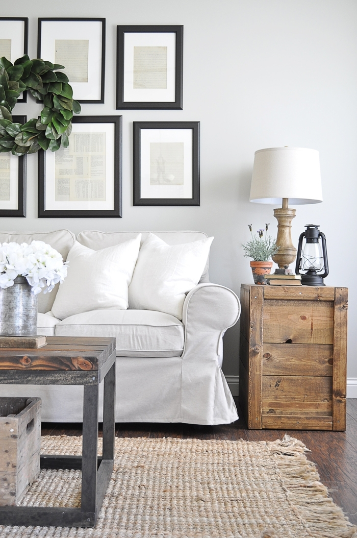Make These Rustic Farmhouse Style Diy Crate Side Tables For Your Living Room Or Bedroom