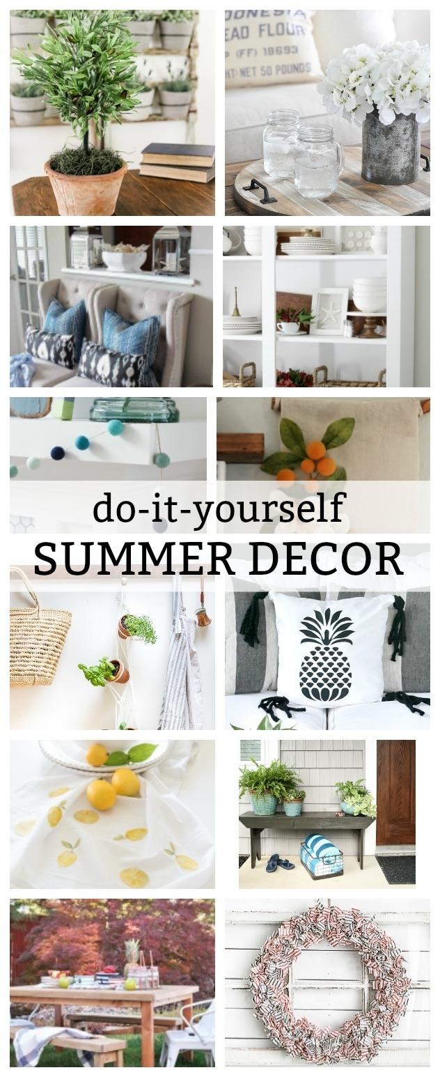 Do-It-Yourself Summer Decor Tutorials