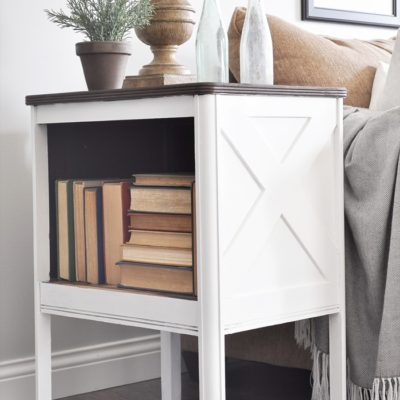 Farmhouse Side Table Makeover + GIVEAWAY