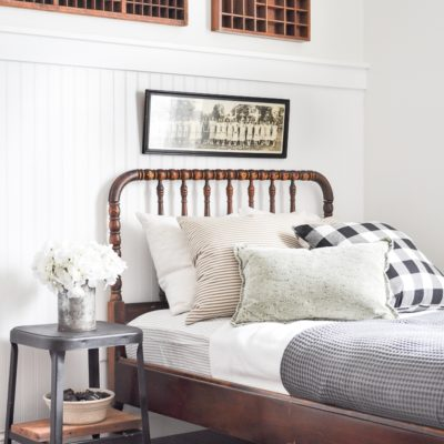 Neutral Vintage Guest Bedroom