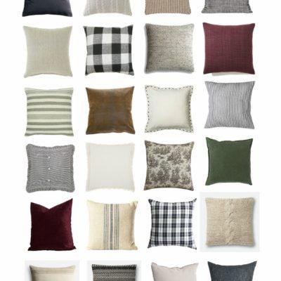 25 Farmhouse Style Fall Pillows