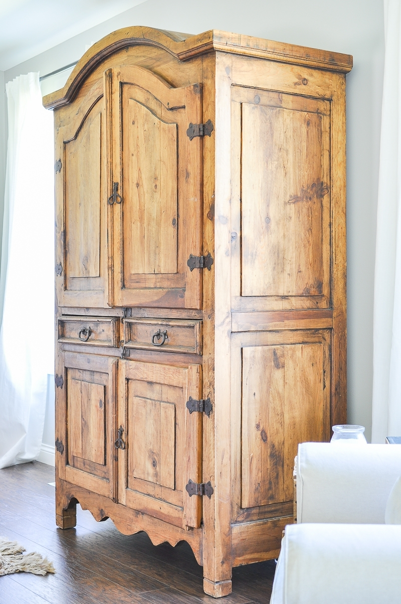 Charming Secondhand Rustic TV Armoire