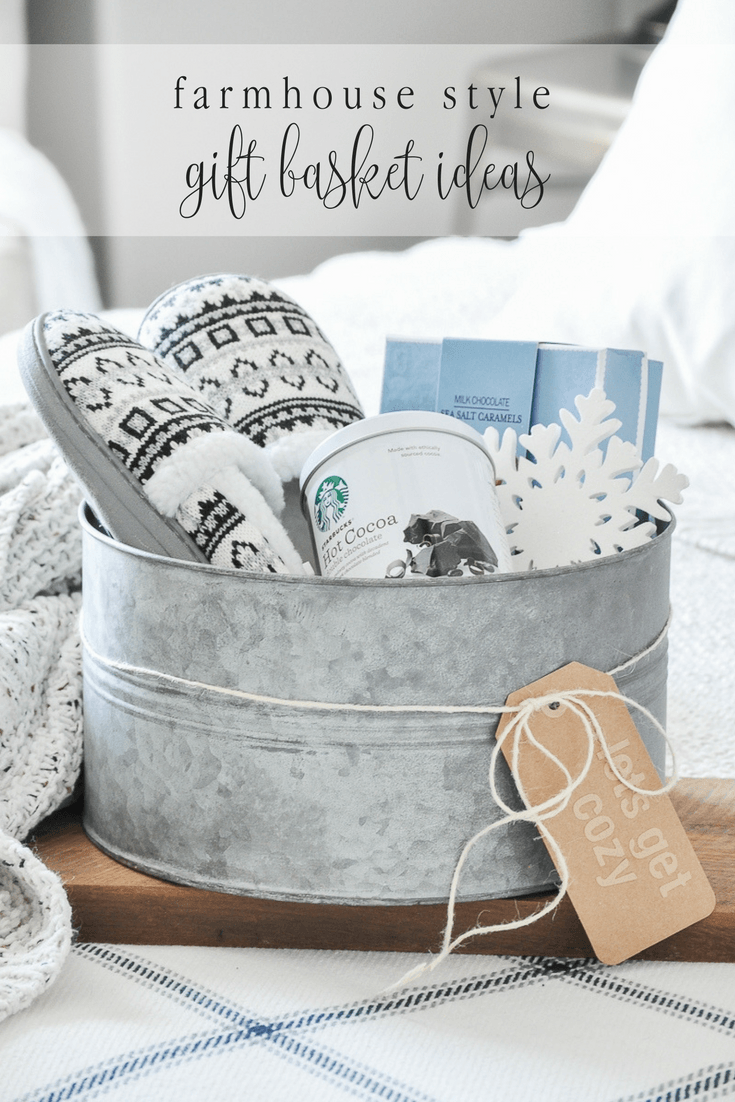 Farmhouse Style Gift Basket Ideas