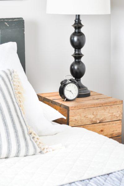 DIY Planked Wood Nightstands
