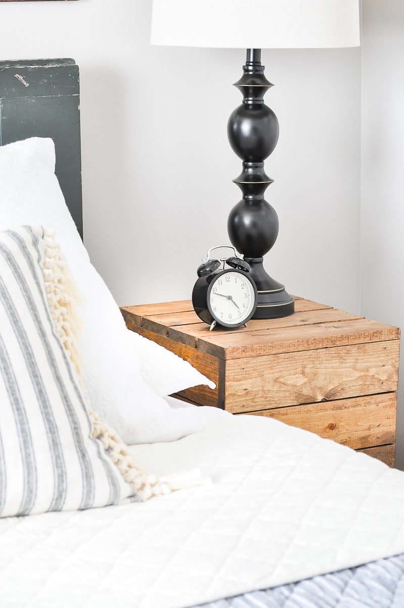 DIY Planked Wood Nightstands