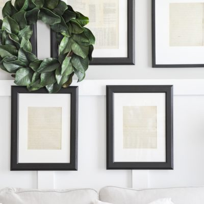 Framed Vintage Paper Gallery Wall