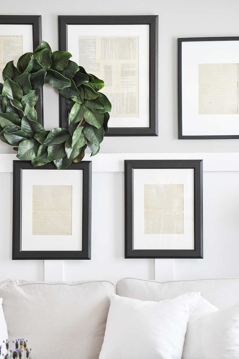 Framed Vintage Paper Gallery Wall