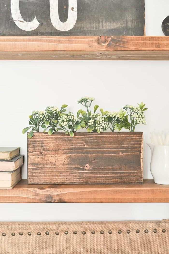 Wooden Drill Bit Flower Holder