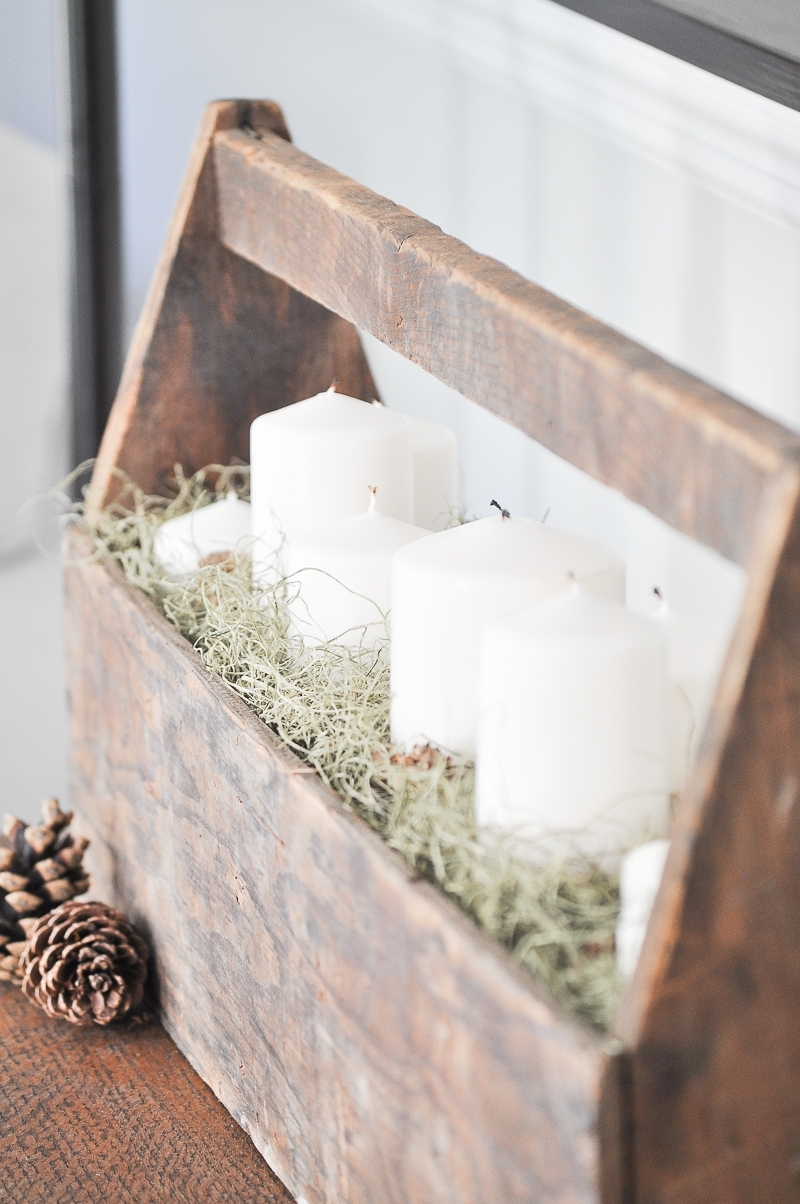 Fall Farmhouse Candle Display