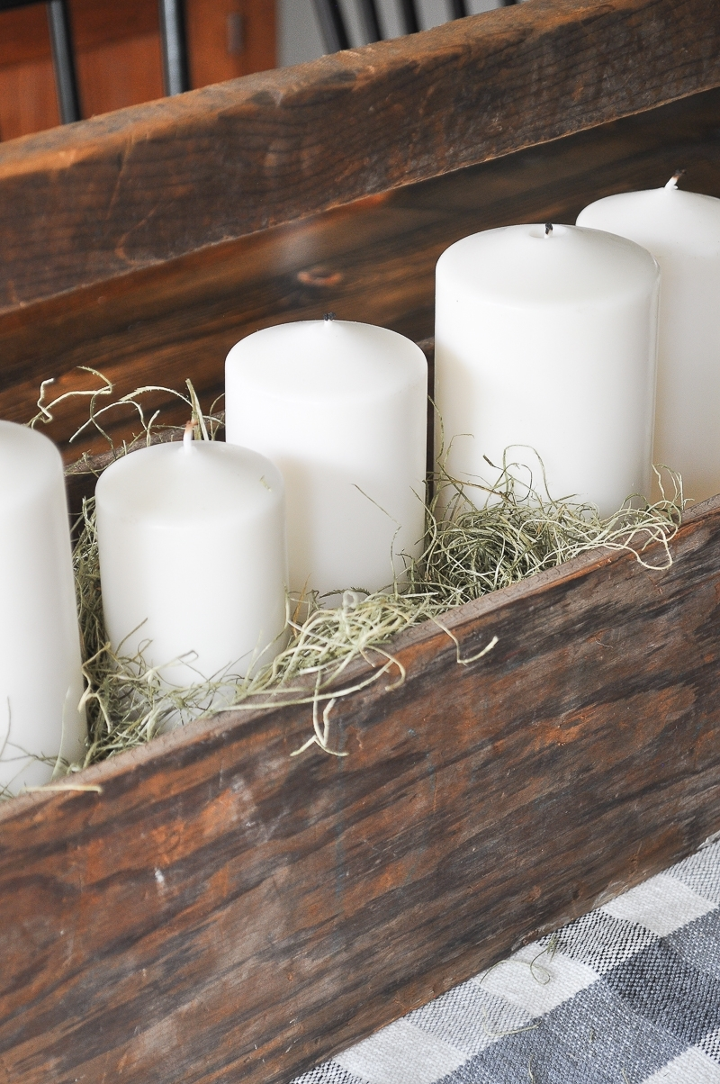Fall Farmhouse Candle Display