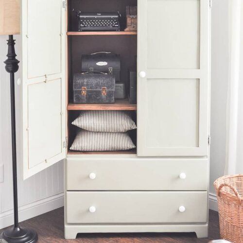 Guest Bedroom Armoire Makeover