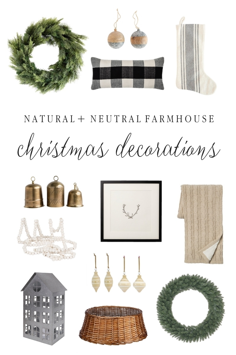 Natural and Neutral Christmas Decorations Shopping Guide