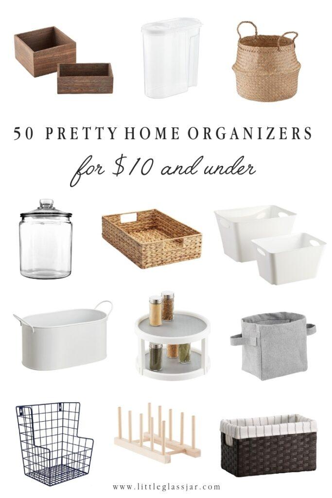 50 Pretty Home Organizers under $10