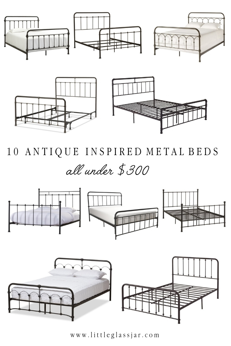 Ten Antique Inspired Metal Beds