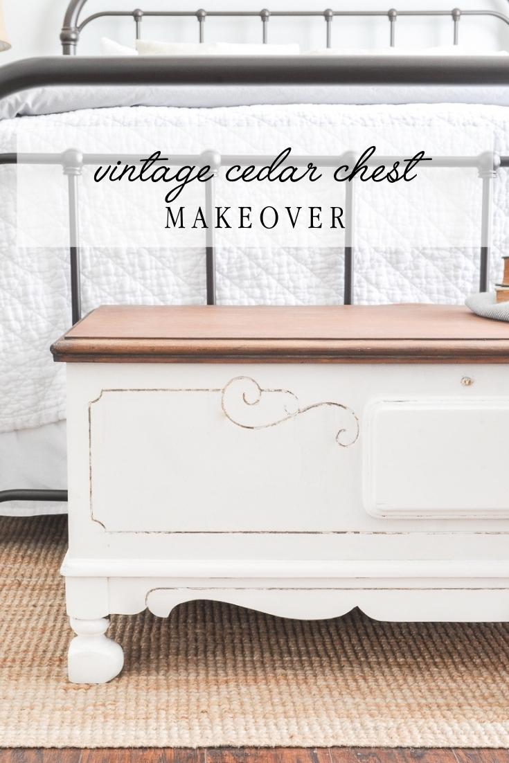 vintage cedar chest makeover