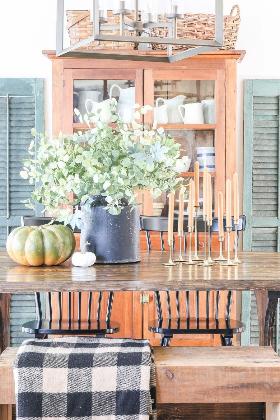 Simple Fall Dining Room - Little Glass Jar
