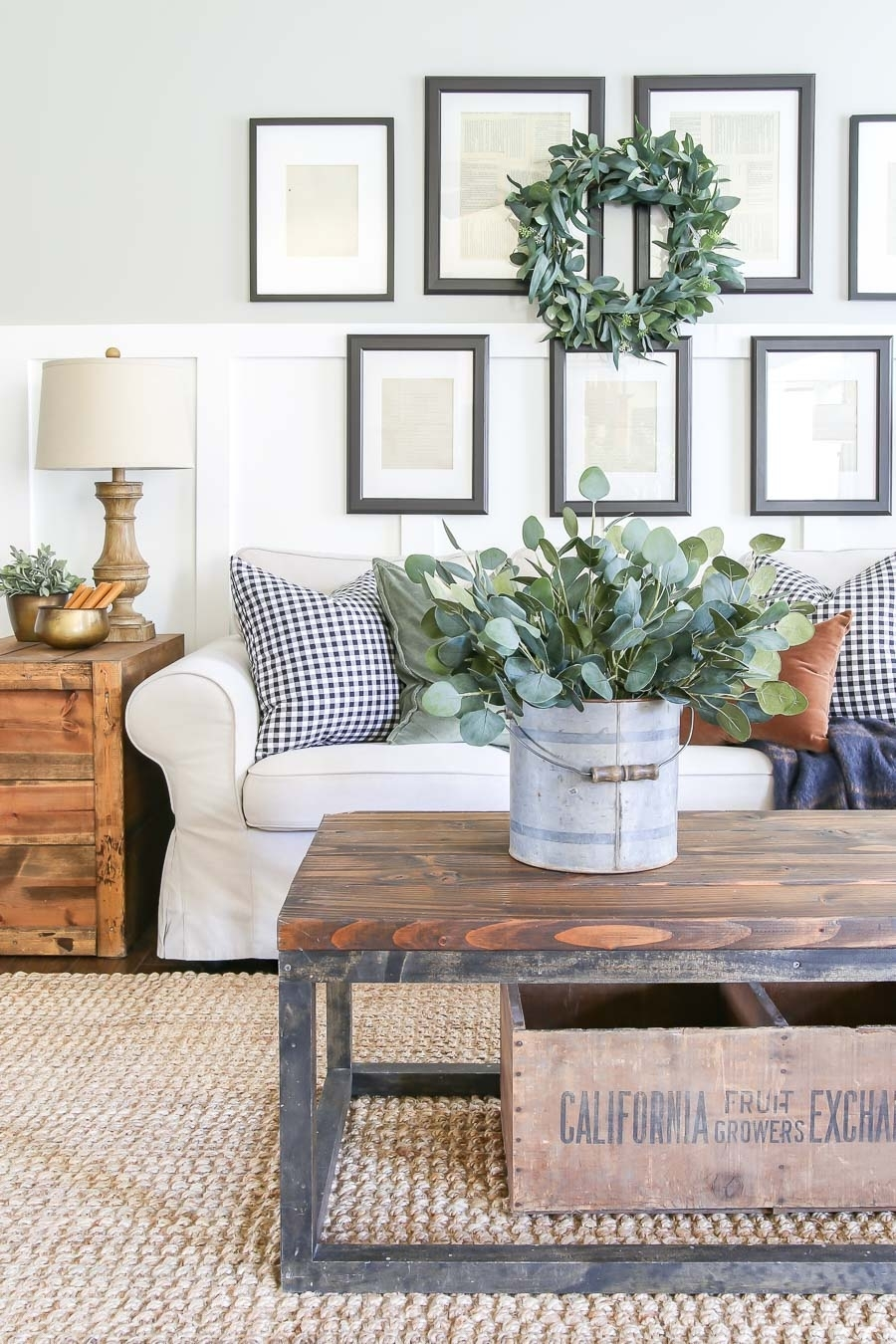 Neutral Fall Living Room Decor