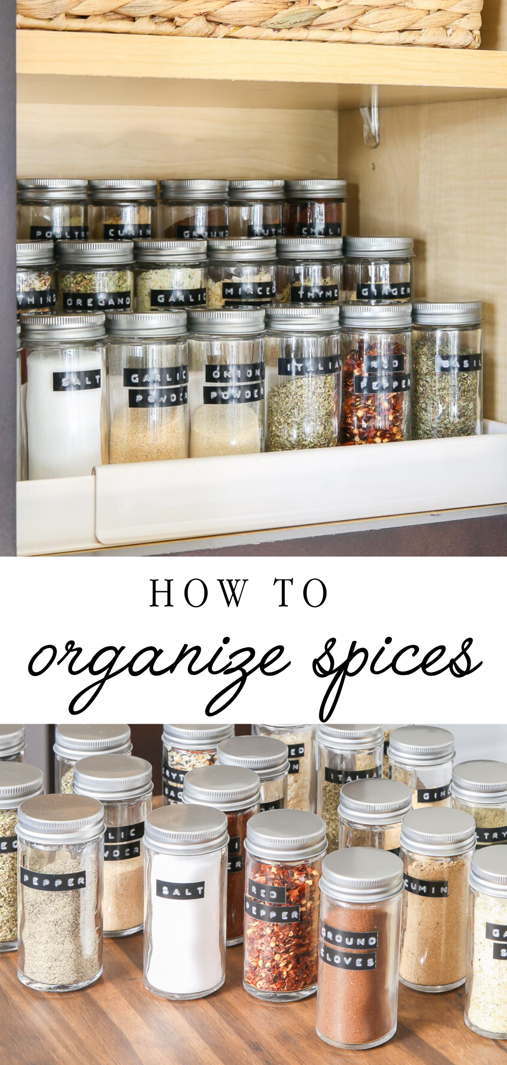 How to orgainze spices