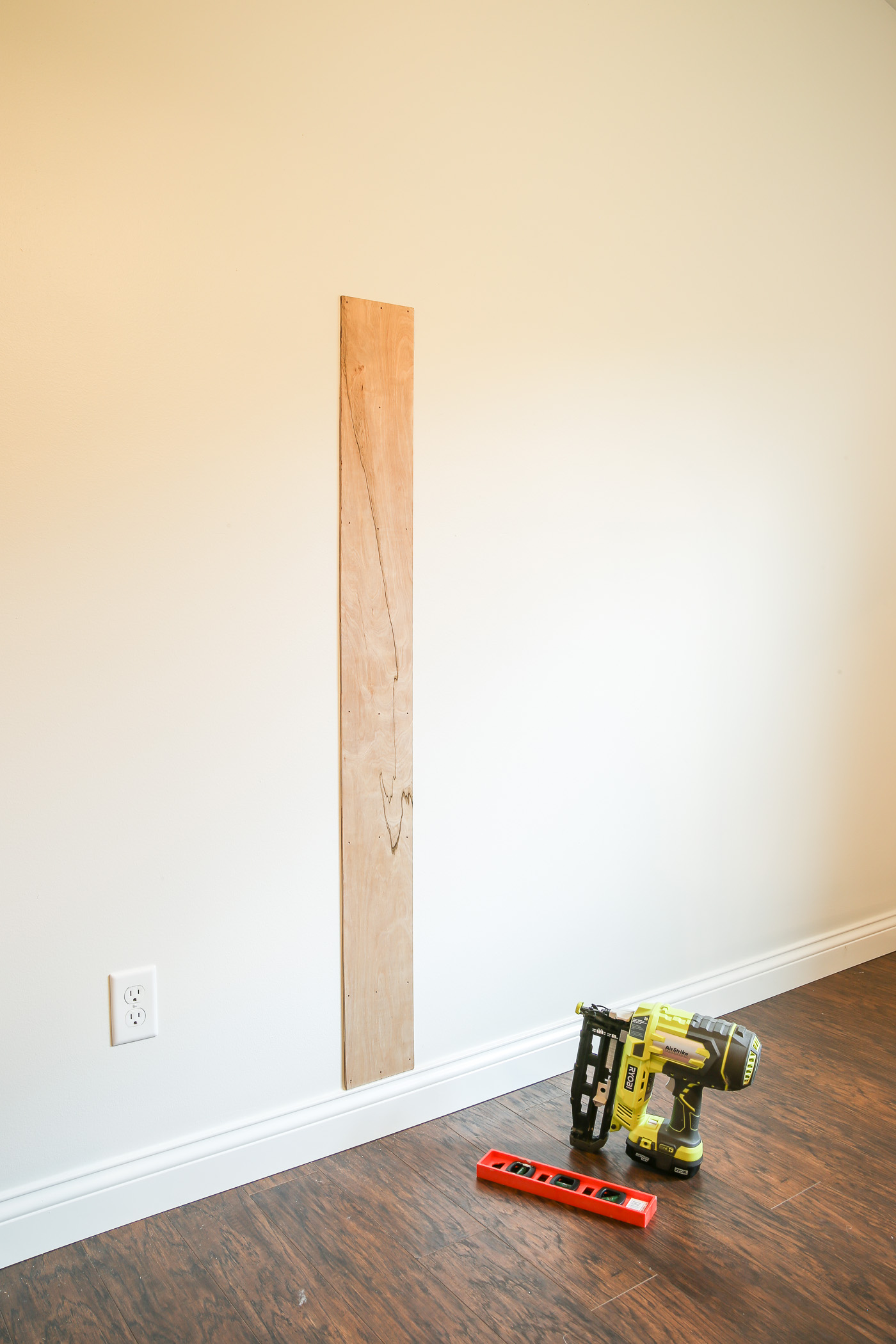 Vertical Shiplap Installation