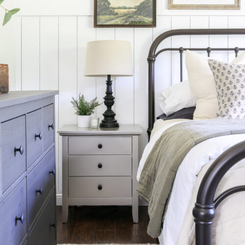 Cozy Vintage Master Bedroom Makeover