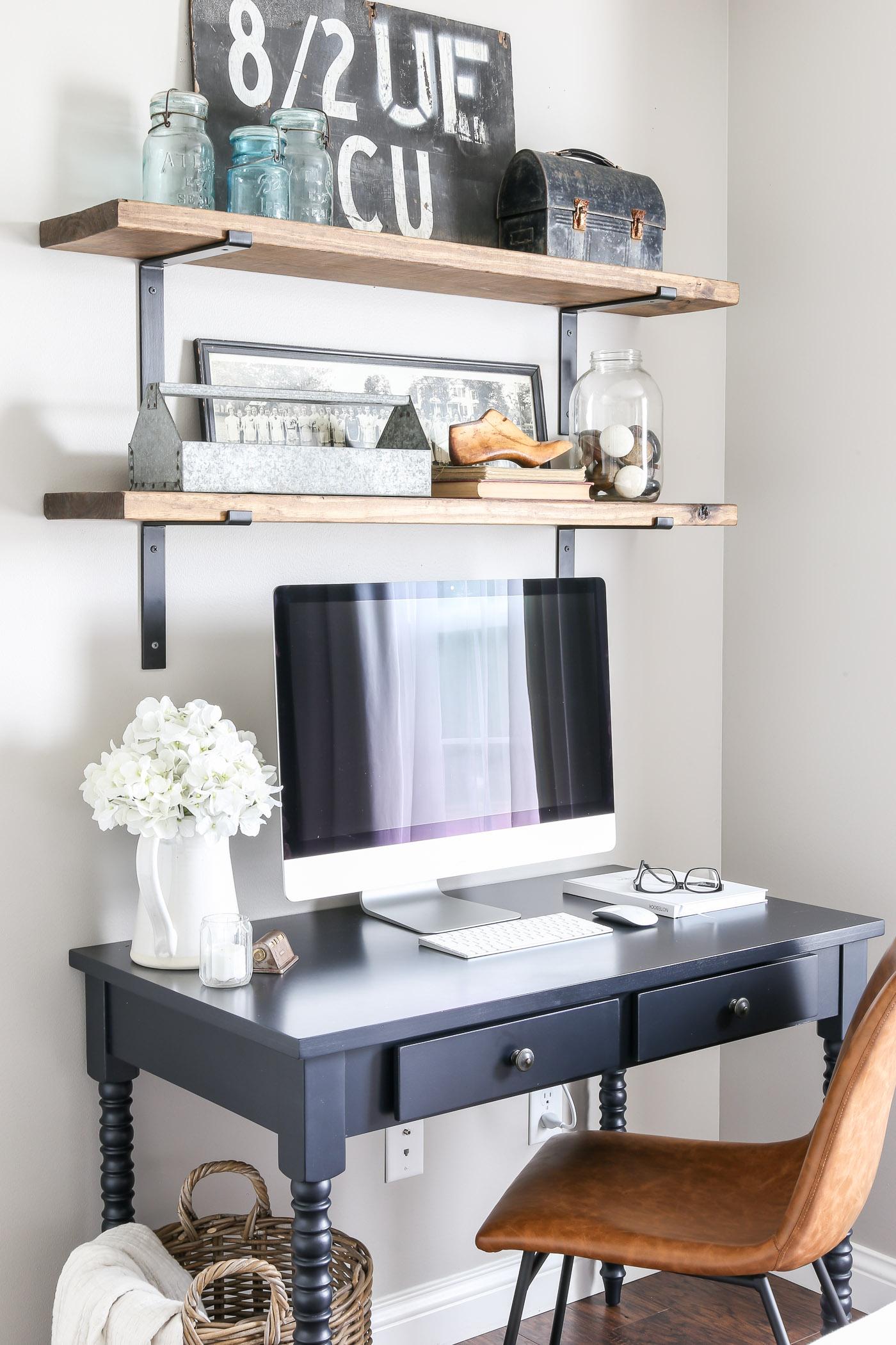 Guest Bedroom Office Nook