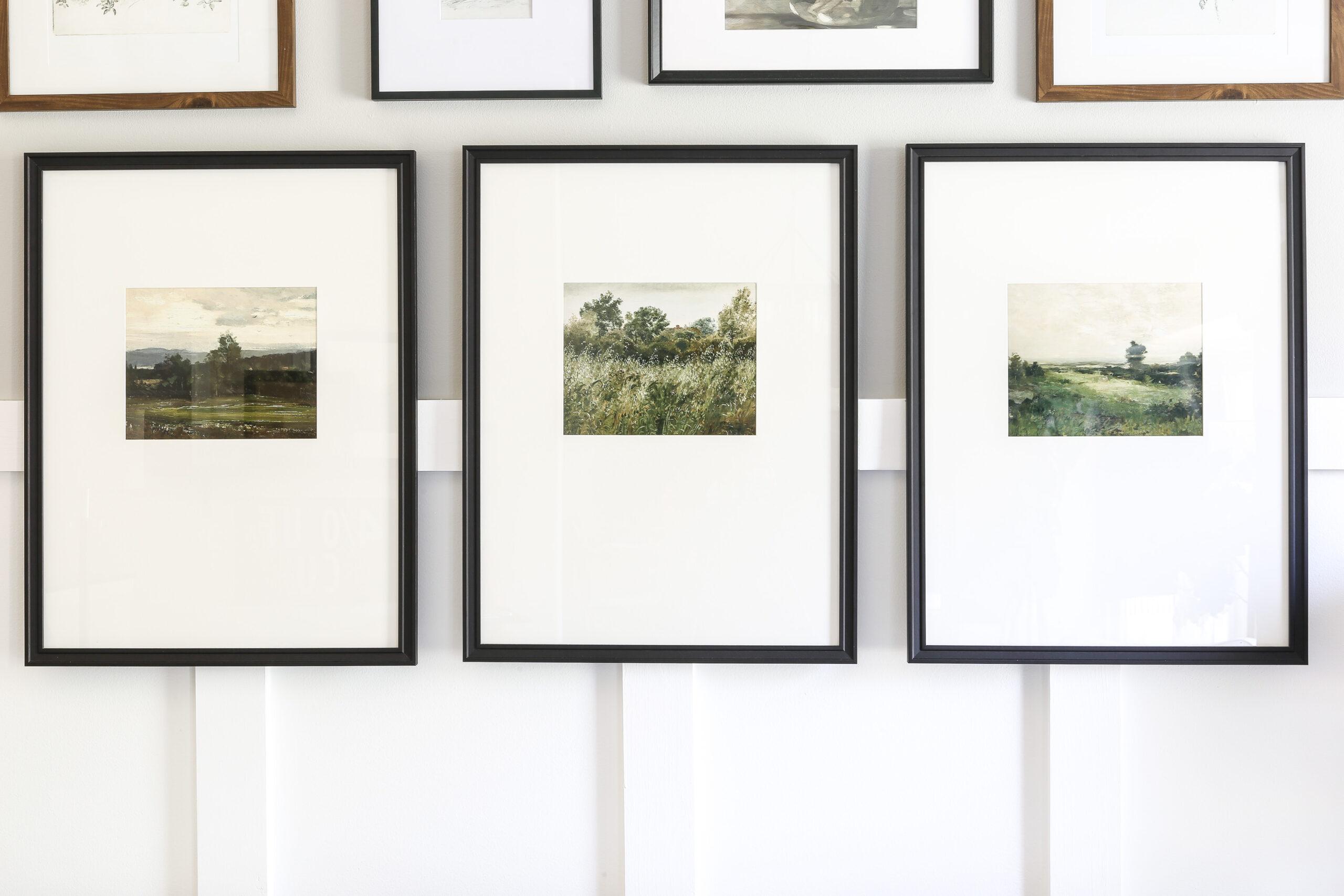 Vintage Prints Gallery Wall