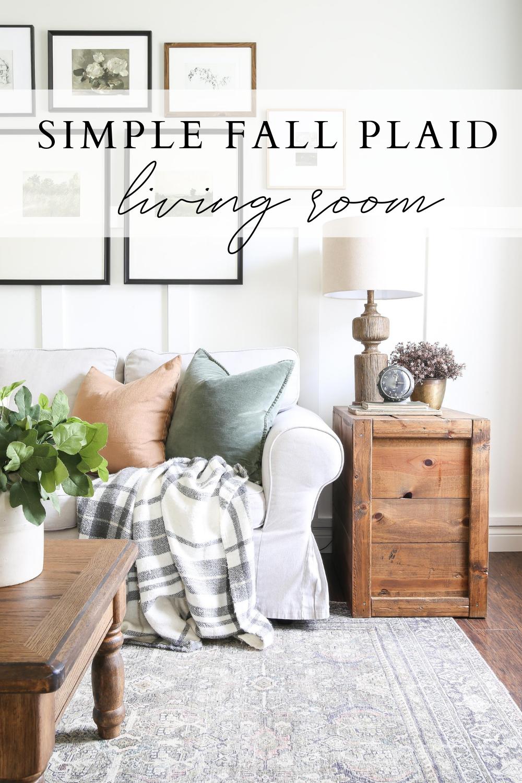 Simple Fall Plaid Living Room